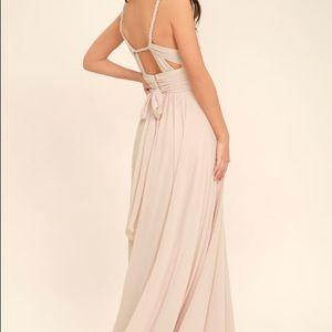Carte Blanche Blush Pink Maxi Dress